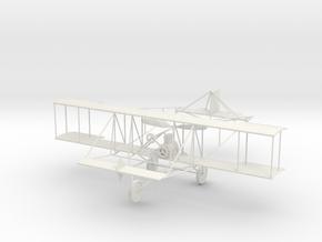 1/72 Historic Biplane in White Natural Versatile Plastic