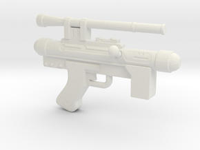Star Wars Blaster Pistol SE-14C 1:12 scale in White Natural Versatile Plastic