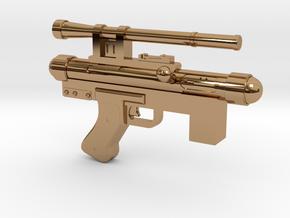 Star Wars Blaster Pistol SE-14C 1:6 Scale  in Polished Brass
