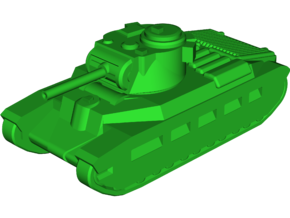 A12 Matilda-2 Infantry Tank in White Strong & Flexible: Small