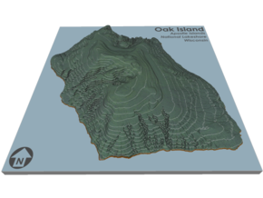 Oak Island Topo Map: 5 Inch in Full Color Sandstone
