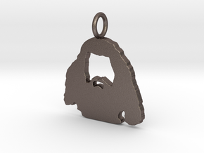 Hagrid Silhouette Pendant in Polished Bronzed Silver Steel