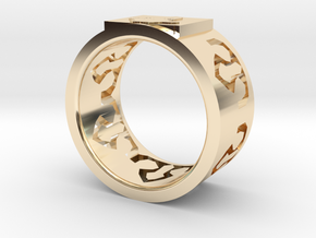 Crystal ring in 14k Gold Plated Brass