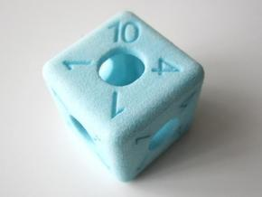 Average D6 Hollow Dice in White Natural Versatile Plastic