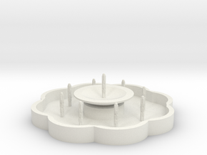 Zierbrunnen mit 9 Fontainen - 1:120 in White Natural Versatile Plastic
