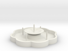 Zierbrunnen mit 5 Fontainen - 1:120 in White Natural Versatile Plastic