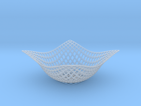 Wavey Wired Bowl in Smooth Fine Detail Plastic