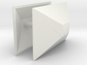 1/50th Semi Trailer Nose Cone Air Dam (2) in White Natural Versatile Plastic