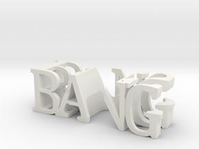 3dWordFlip: BANG/BUS in White Natural Versatile Plastic