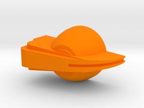 Chicken-head potentiometer knob in Orange Processed Versatile Plastic