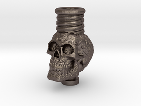 Skull 510 Drip Tip in Polished Bronzed Silver Steel