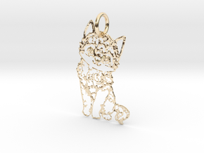 creative pendant cat in 14K Yellow Gold