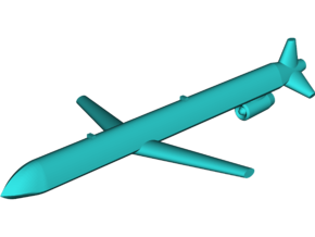 Kh-101 Cruise Missile in White Natural Versatile Plastic: Small