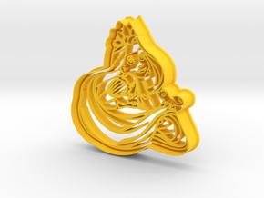 Rapunzel Cookie Cutter from Tangled in Yellow Processed Versatile Plastic