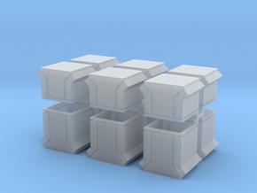 Dachlüfter 12erSet Typ 3 und 4  modern 1:120 in Smooth Fine Detail Plastic
