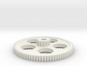 15/80T mini lathe change gear in White Natural Versatile Plastic