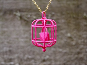 Platonic Birds - Octahedron in Pink Strong & Flexible Polished