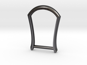 "1"" Long Buckle Frame, Plain - STEEL in Polished Grey Steel"
