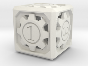 D6 - Clockwork in White Natural Versatile Plastic