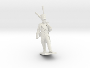 28 mm French Napoleonic soldier 1812 in White Natural Versatile Plastic