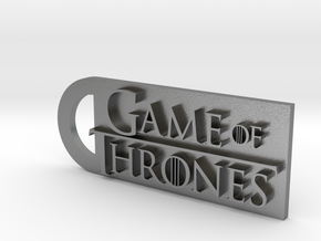 Game Of Thrones Keychain in Natural Silver