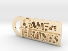 Game Of Thrones Keychain in 14k Gold Plated Brass