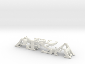 3dWordFlip: AFSA/FREESTYLE in White Natural Versatile Plastic