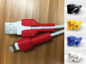 Cable Protector, iPhone Charger Protector in White Natural Versatile Plastic