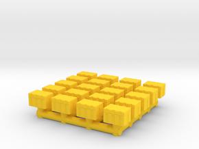 1-87 Scale Mini Crates in Yellow Processed Versatile Plastic