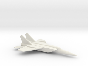 MiG-25 (Foxbat) Jet Fighter in White Natural Versatile Plastic: Medium