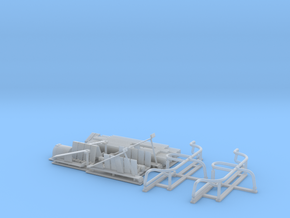 Sturmpanzer IV (Brummbär) early-mid Schurzen set in Smooth Fine Detail Plastic
