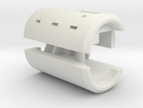3.5mm 6-pole V2 Female Socket Holder SIMPLE in White Strong & Flexible