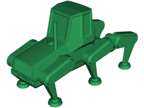 PlusTech Hexapod Harvester [Tractor Cab] in White Strong & Flexible: Small