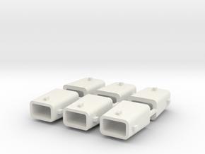 set4794 Stahlkokille 4 Zapfen ohne Boden 6erSet 1: in White Strong & Flexible
