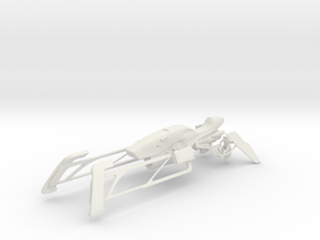 Racing Speeder (1:18 Scale) in White Natural Versatile Plastic
