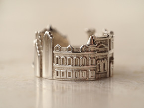 Toronto Cityscape - Skyline Ring in Polished Silver