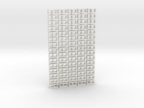 Cinder Block Loose 75 Pack 1-50 scale in White Natural Versatile Plastic