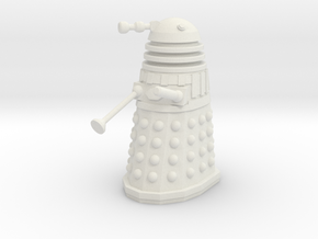 Imperial Dalek - Pose 2 in White Natural Versatile Plastic