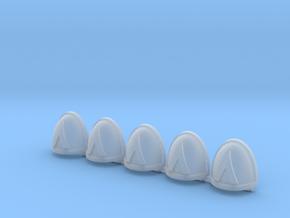 Devastators Mk7/8 Shoulder Pads x5 in Frosted Ultra Detail