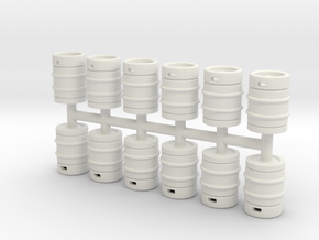 Beer Barrel. 1:64 Scale  in White Natural Versatile Plastic
