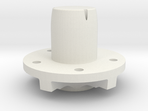 "Front Hub - 5x5"" bolt pattern in White Natural Versatile Plastic"
