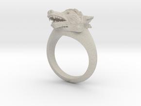 wolf Ring in Natural Sandstone: Medium