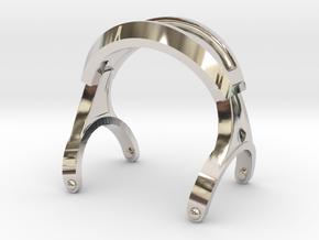 Pocket full headphones -(Main Frame) in Rhodium Plated Brass