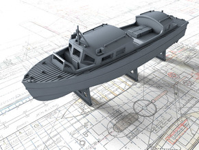 1/72 Royal Navy 35ft Fast Motor Boat in Smooth Fine Detail Plastic
