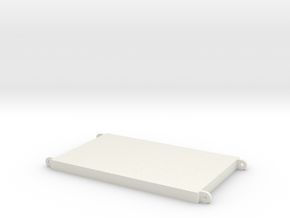 Outrigger Mat 80x50x5mm in White Natural Versatile Plastic