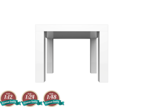 Miniature LACK Side Table - IKEA in White Natural Versatile Plastic: 1:24