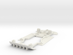 Chassis for NSR Mosler for (Slot.It motor pod) in White Natural Versatile Plastic