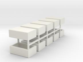 Stahlbrammen liegend 10er Set - 1:120 in White Strong & Flexible