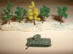 A30 Challenger Cruiser Tank 1/285 6mm in Smooth Fine Detail Plastic