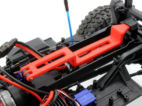 Traxxas TRX 4 Mini LiPo Battery Strap in Red Processed Versatile Plastic: 1:10